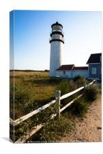 Lighthouse in New England, Canvas Print