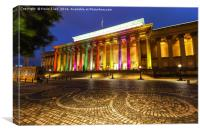 St Georges hall in Liverpool, Canvas Print