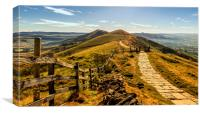 The Great Ridge in the Peak District, Canvas Print