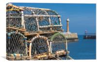 Lobster pots, Canvas Print