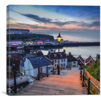 199 steps at Whitby, Canvas Print