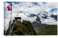 Eiger And Monk In The Clouds - Swiss Alps, Canvas Print