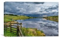 Stormy Skies on Grassholme, Canvas Print