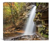 Gibsons Cave Waterfall, Canvas Print