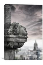 Monument Looking Over Glasgow, Canvas Print