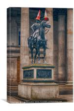 The Equestrian Wellington Statue, Canvas Print