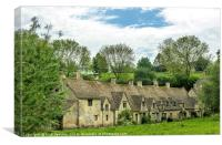 Arlington Row in the Cotswolds, Canvas Print