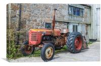 Old Zetor Diesel 4011 Tractor on the Scillies, Canvas Print