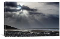 Dunraven Bay Cold Winter Day, Canvas Print