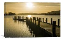 Wooden Jetty Coniston Water Lake District, Canvas Print