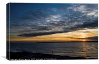 Sunset over Ogmore by Sea , Canvas Print
