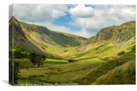 Gatesgarth Pass from Longsleddale Lake District , Canvas Print