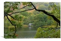The Boathouse on Rydal Water Lake District, Canvas Print