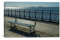 Bench on Penarth Pier South Wales, Canvas Print