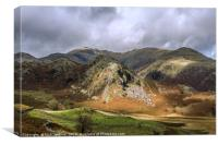 The Bell Coniston Fells Lake District Autumn , Canvas Print