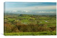 The Tywi Valley from Paxtons Tower Carmarthenshire, Canvas Print