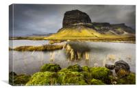 The Giant of Mt. Lómagnúpur in Iceland, Canvas Print