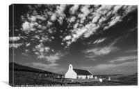 The Church of the Holy Cross at Mwnt, Ceredigion, , Canvas Print