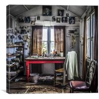 The Writing Shed, Canvas Print