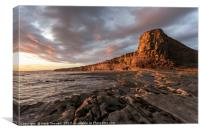 Sunset down at Nash Point, Canvas Print