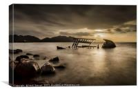 Wreck of the Dayspring Scotland, Canvas Print