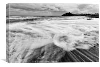 Criccieth Beach , Canvas Print