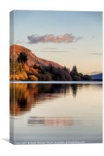 Llwyn-on Reservoir bathed in late afternoon light, Canvas Print