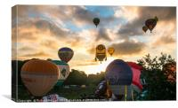 Sunrise at the Bristol Balloon Fiesta., Canvas Print