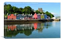 Tobermory waterfront, Isle of Mull, Canvas Print