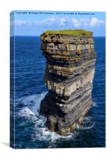 Sea stack Downpatrick Head, County Mayo, Ireland, Canvas Print