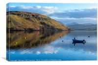 Reflections on Loch Harport on Isle of Skye, Canvas Print