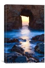 Sunset on Arch Rock in Pfeiffer Beach, Big Sur., Canvas Print