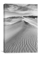Early morning in the Mesquite Sand Dunes in Death , Canvas Print