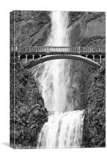 Close up view of Multnomah Falls, Canvas Print