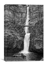 Full view of Multnomah Falls in the Columbia River, Canvas Print