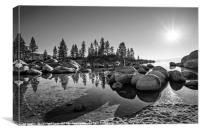 Beautiful Sand Harbor in Lake Tahoe., Canvas Print