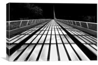 The unique and beautiful Sundial Bridge in Redding, Canvas Print