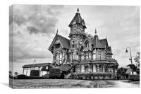 The Carson Mansion is one of the most notable exam, Canvas Print