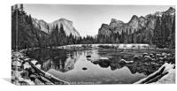 Dramatic view of Yosemite Valley., Canvas Print