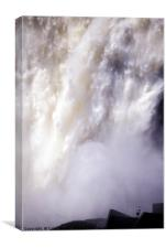 Spring melt water in Chute Montmorency, Canvas Print