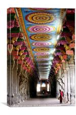 The Hall of One Thousand Pillars Inside the Meenak, Canvas Print