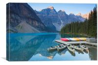 Moraine Lake in the Banff National Park, Canvas Print