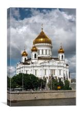 The Cathedral Of Christ The Savior., Canvas Print