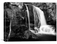 Scottish Falls, North West Highlands, Canvas Print