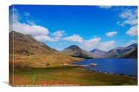 Wast Water lake in The Lake District, Canvas Print