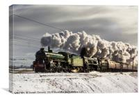 Winter Cumbrian Express passing Tebay, Canvas Print
