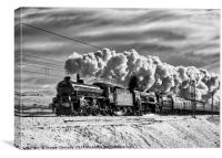 Steam train Winter Cumbrian Mountain Express Tebay, Canvas Print