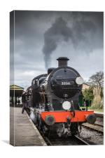 HORSTED KEYNES, UK - MARCH 19, 2016: Driver climbs, Canvas Print