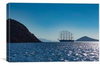 Tall ship on the Aegean sea, Canvas Print