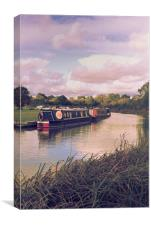 Travel by barge, Canvas Print